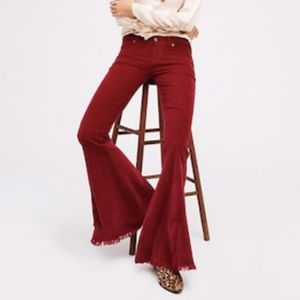 Free People Vintage Raw Edge Flare Cord